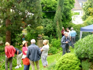 Members of the Society Enjoying the Garden