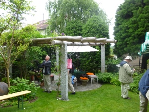 What a Pergola and Patio Combination!